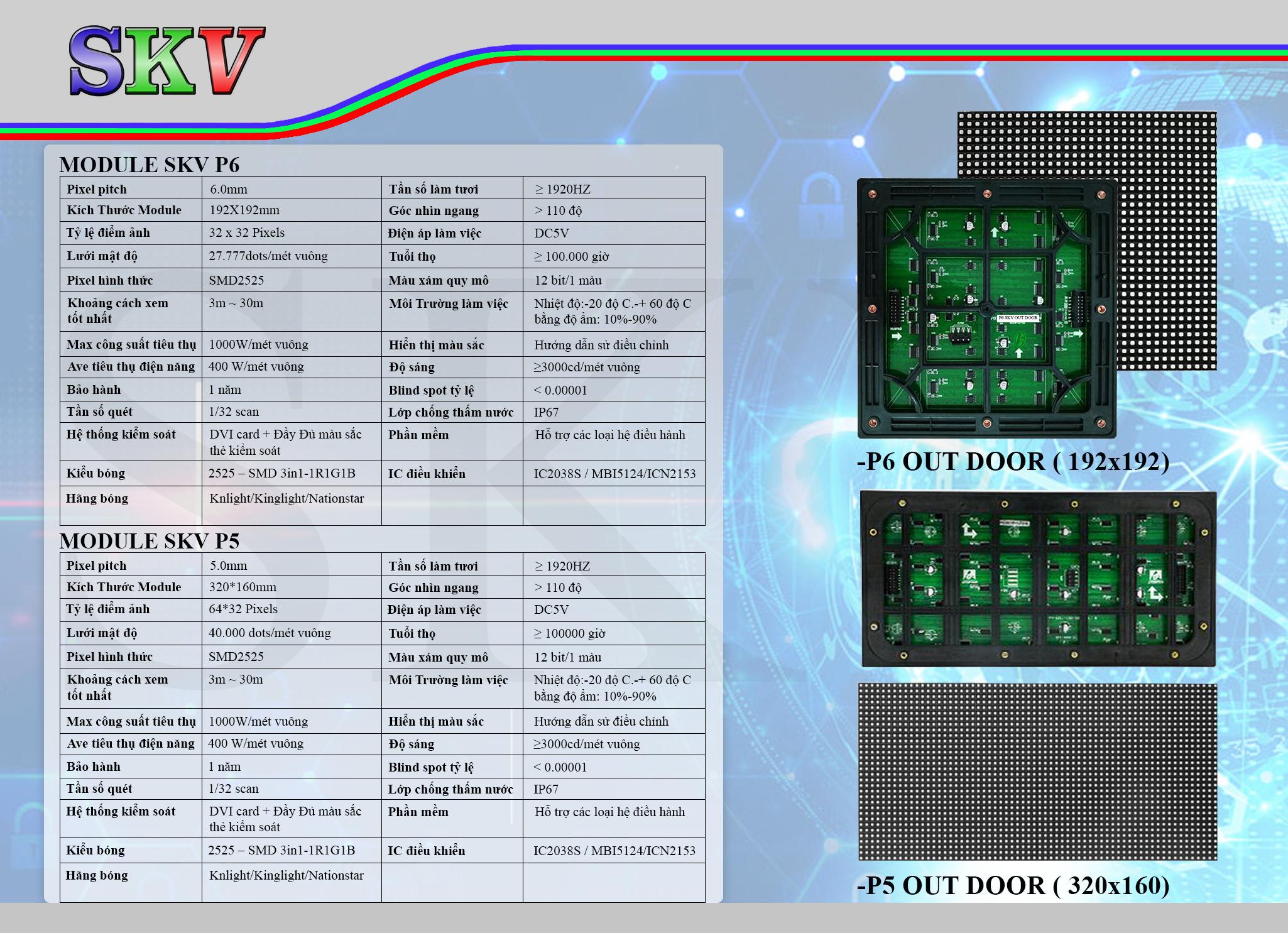 module led skv p5 outdoor